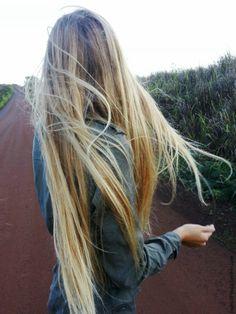 Long blonde locks.
