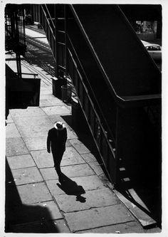 William Gedney - Man on sidewalk with shadow - New York - 1960