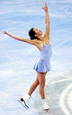 Michelle Kwan -Blue Figure Skating / Ice Skating dress inspiration for Sk8 Gr8 Designs.