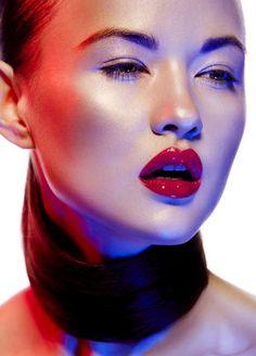 Gorgeous glossy lips