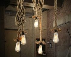 lamps lighting com Picture - More Detailed Picture about Vintage Rope Pendant Light Lamp AC 90 Loft Creative Personality Industrial Lamp Edison Bulb American Style For Living Room Picture in Pendant Lights from China JIAYONG Technology Co. Rope Pendant Light, Industrial Pendant Lights, Pendant Lamp, Pendant Lighting, Cafe Lighting, Lighting Ideas, Edison Bulb Chandelier, Edison Lampe, Vintage Lamps
