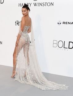 Bella Hadid at the amfAR Gala 2017. #CannesFilmFestival