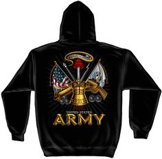 "(OFFICIALLY-LICENSED,""U.S.ARMY-VETERAN,THIS-WE'LL-DEFEND,ARMY-CANNONS"", GRAPHIC-PRINTED-PREMIUM-DOUBLE-SIDED-PULLOVER-HOODIES:)"