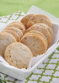 How to make buttery shortbread better? Just add rosemary! Because the herb traditionally represents remembrance, a batch of these treats is ideal as a thank-you, birthday or thinking-'bout-you gift.