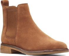 85bbcebab Women s Clarks Clarkdale Arlo Chelsea Boot - Dark Tan Suede with FREE  Shipping  amp  Exchanges