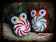 Set of 2, Wintergreen and Peppermint Crochet