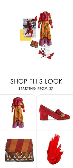 """""""Orange juice"""" by nenakk ❤ liked on Polyvore featuring Gucci, Chloé and Maybelline"""