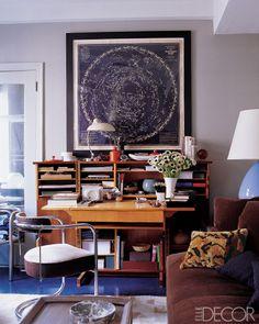 Corner of Thomas O'Brien's studio space. Photo by William Waldron. Elle Decor.