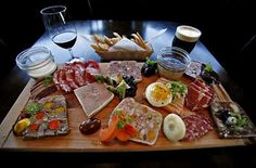 King Charcuterie Platter at Waterloo & City (Los Angeles, CA). #UniqueEats #charcuterie