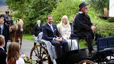 14 August 2014 Crown Prince Haakon and Crown Princess Mette Marit visited Østfold