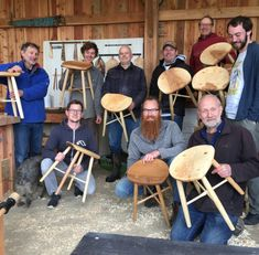 Another successful stool making course! Its so rewarding...