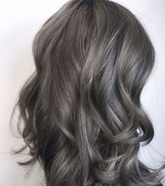 grey brown hair…