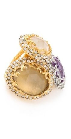 Alexis Bittar Floral Stacked Ring       $295.00