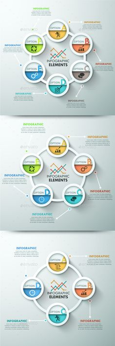 Modern Infographic Template (3 Items) - Infographics