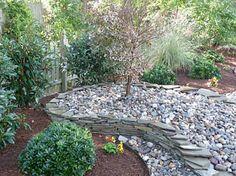 Landscaping with river rock - Modern River Rock Landscaping, Small Backyard Landscaping, Landscaping With Rocks, Hardscape Design, Landscape Services, Outdoor Living, Outdoor Decor, Google Images, Terrace Garden