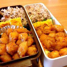 昨日もらったぼんじり。 お陰様で楽ちん弁当。 - 33件のもぐもぐ - お弁当♡ぼんじり、温野菜、卵焼き、十六穀米 by usaco123