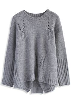Knit Some Charisma Sweater in Grey - New Arrivals - Retro, Indie and Unique Fashion