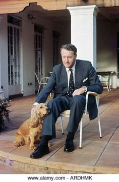 Ian Smith, Rhodesia prime minister, at home with pet spaniel; in 1965 he declared UDI, unilateral independence, - Stock Image Us History, African History, Ian Smith, Douglas Smith, Zimbabwe Africa, South African Air Force, Military Special Forces, Military Diorama, Beautiful Places To Visit