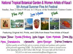 Women Artists of Kaua'i: Summer Fine Art Festival at NTBG