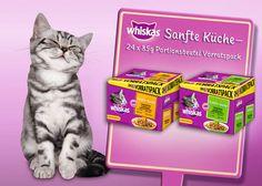 """Mit den Neuen von Whiskas sind Gaumenfreuden und Abwechslung für Katzen garantiert. Die neuen 24er-Vorratspacks gibt es in zwei leckeren Mixen: """"Gegrilltes Geflügel"""" und """"Gegrillte Selektion. Bild: Mars"""