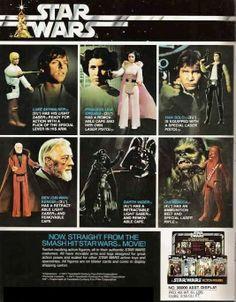 Vintage Kenner Star Wars action figures ad