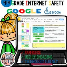 Internet Safety and Digital Citizenship Digital Interactive Notebook for 4th Grade. 6 activities to complete that go with the common sense media lessons for 4th grade internet safety. The best part is that these activities are paperless. They are made for Google Drive and can also be use with Microsoft OneDrive $