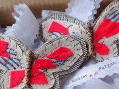El atelier de las Pulgas. Mariposas para el pelo.Horquillas
