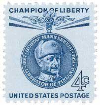 #1165 - 1960 4c Gustaf Mannerheim U. S. Postage Stamp Plate Block (4) . $0.35
