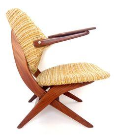 Arm chair by Louis van Teeffelen for Wébé, Funky Chairs, Vintage Chairs, Vintage Furniture, Furniture Design, Mcm Furniture, Mid Century Modern Furniture, Mid Century Modern Design, Mid Century Style, Habitat Furniture
