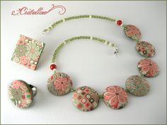Fimo Cristalline, tuto et bijoux en polymère: Retour des fleurs