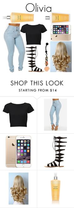 """""""Untitled #2476"""" by cakeboossmafiaa ❤ liked on Polyvore featuring Lipsy, Charlotte Russe and Victoria's Secret"""