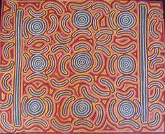 australian aboriginal art   Janice Collins Aboriginal Painting Bush Seed Dreaming