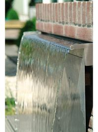 Stainless Steel Waterfall Blade Cascade (Sheer descent) by Ambienté™ Small Fountains, Stone Fountains, Indoor Water Fountains, Indoor Fountain, Fountain Ideas, Indoor Outdoor, Indoor Water Garden, Water Gardens, Indoor Water Features