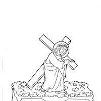 Dibujos Para Colorear De La Serie Dibujos De Pasos De Semana Santa