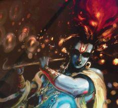 Lord Jagatpati (painting by Abhishek Singh aka Abhiart.)