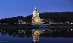 I love the gold dome of the Capitol building on the Kanawha River in Charleston, WV where I grew up
