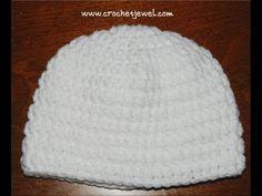 Crochet Double Crochet Hat, (Newborn-Adult Sizes) Part I Videos  http://www.youtube.com/watch?v=Kr2SPHk6wHU    Crochet Double Crochet Hat, (Newborn-Adult Sizes) Part II Videos  http://www.youtube.com/watch?v=k2s6RJL0344