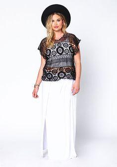 Plus Size Bohemian Crochet Top
