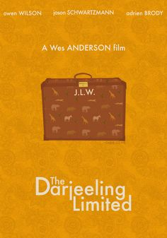 like the font, feel of this (The Darjeeling Limited poster design by Gabrielle Tanjutco)
