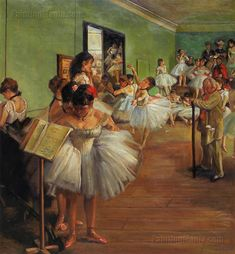 The Ballet Dance Class by Edgar Degas 1874
