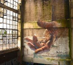 Hyper real Street art – by Adnate (Gallery) 3d Street Art, Urban Street Art, Amazing Street Art, Street Art Graffiti, Street Artists, Art Public, Spray Can Art, Urbane Kunst, Urban Painting