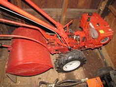 Shed contents being auctioned buyer choice including Troy-Bilt Horse Model Roto-Tiller (engine has compression); Vann Guard log splitter (engine has compression); lawn and garden supplies; trash cans; paints and chemicals; ladder; etc. all being auctioned buyer choice. Consignor says the tiller and log splitter were in running condition when stored in the shed some years ago, but both are being auctioned as is