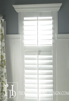 DIY Plantation Shutters  Yes, totally making them yourself with direction from Provident Home Design and Shutter Cutter  WOW!
