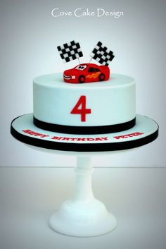 At Cove Cake Design we specialise in bespoke wedding cakes and celebration cakes that are tailor-made for each of our discerning clients. Lightening Mcqueen Birthday Cake, Lightning Mcqueen Cake, Toddler Birthday Cakes, 2 Birthday Cake, Cars Cake Design, Car Cakes For Boys, Car Cake Toppers, Disney Cars Cake, Movie Cakes