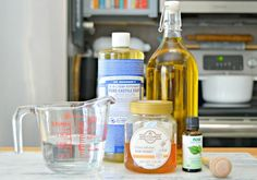 Homemade Foaming Face Cleaner with honey, essential oils and no chemicals.