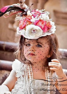 Couture I Love Paris Headpiece  Granddaughter needs a hat for an upcoming event! :-o