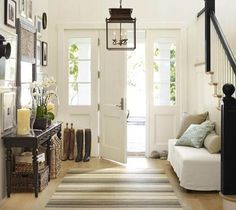 Entryway, gallery wall, sideboard (something simpler), bench, lots of natural light