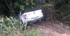 Jacobina - Acidente na pista de acesso à Mineração deixa quatro pessoas feridas