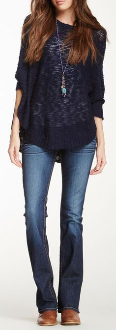 <3 this look ~ simple and comfy ~ True Religion Tony Slim Bootcut Jean