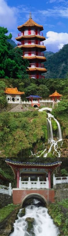 Eternal Springs Shrine, also called Changchun Shrine and is a landmark and a memorial shrine complex in Taroko National Park, Taiwan. It is one of the major picturesque points of the park, with the view of the mountains and the waterfall, and one of the main memorials for veterans. Photo: google+
